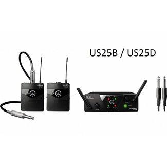 AKG AKG WMS 40 Mini 2 Système Sans-Fil Double Instrument Émetteurs de Ceinture - Fréquence US25B / US25D