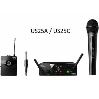 AKG AKG WMS 40 Mini 2 Combo Handheld / Beltpack Wireless System - Frequency US25A / US25C