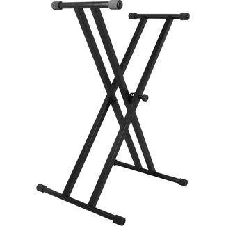 On Stage Stands On Stage Stands KS7191 Classic Series Double X Keyboard Stand