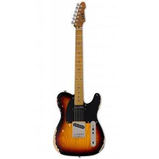 ESP LTD ESP LTD TE254D3TB Electric Guitar - Maple Distressed Sunburst
