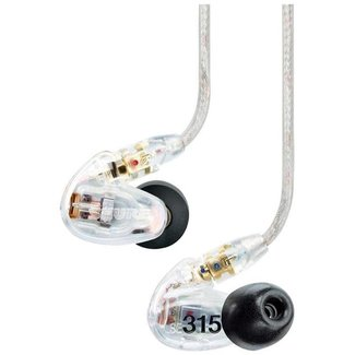 Shure Shure SE315 Sound Isolating Earphones With Single Driver - Clear