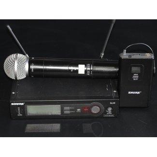 Shure Shure SLX Système Sans-Fil Émetteur Main SM58 et Ceinture - J3 (572-596Mhz) *Usagé*