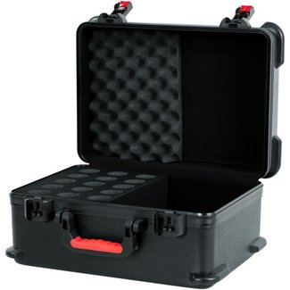 Gator Cases Gator Cases GTSA-MIC15 ATA Molded Case With Drops For 15 Mics