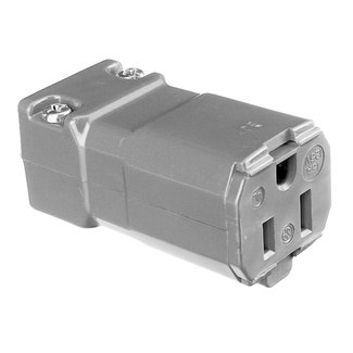 Hubbell Hubbell HBL5969VBLK 15A / 125V Female Connector - Black