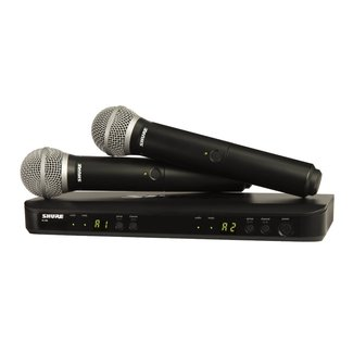 Shure Shure BLX Dual Wireless System with Two BLX2/PG58 Handheld Transmitters - H10