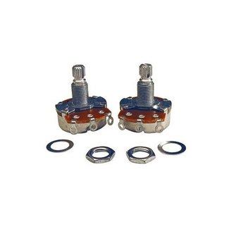 Profile Profile Split Shaft 500K Tone Potentiometer with Nut & Washer (2 Pack)