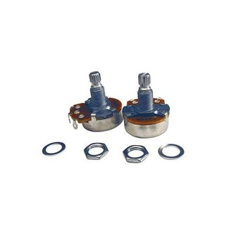 Profile Profile Split Shaft 250K Tone Potentiometer with Nut & Washer (2 Pack)