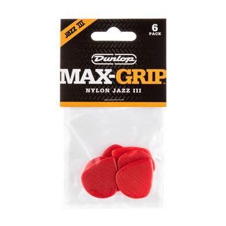 Dunlop Dunlop 471P3N Max-grip Jazz III Plectres (Paquet de 6)