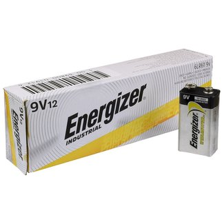 Energizer Energizer Industrial EN22 9v Alkaline Batteries (Box of 12)