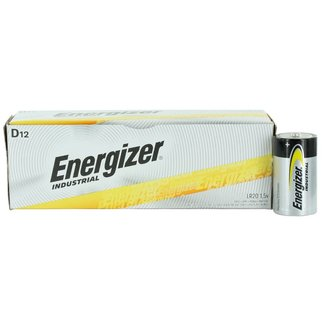 Energizer Energizer Industrial EN95 1.5v D Alkaline Batteries (Box of 12)