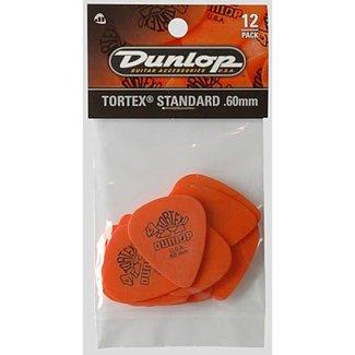 Dunlop Dunlop 418P-60 Tortex Standard .60mm Picks - 12/Pack