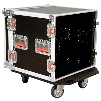 Gator Cases Gator Cases G-TOUR-10U-CAST 10-Space Rack Case With Wheels