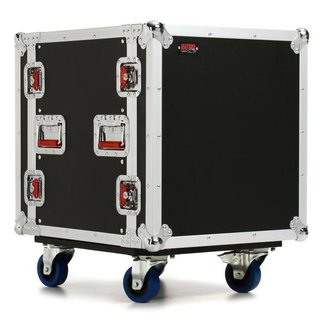 Gator Cases Gator Cases G-TOUR-12U-CAST Coffre Rack sur Roulettes 12U
