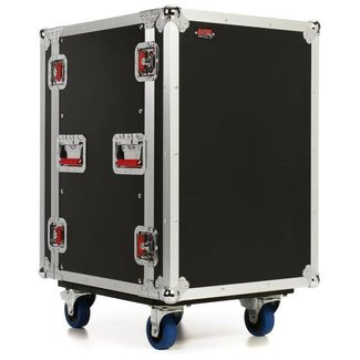 Gator Cases Gator Cases G-TOUR-16U-CAST 16-Space Rack Case With Wheels