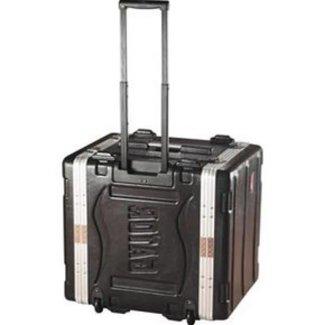 Gator Cases Gator Cases GRR8L rack en polyéthylène 8U avec roulettes et poignée rétractable