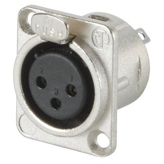 Neutrik Neutrik NC3FD-L-1 3-Pin D-Size Female XLR Panel Mount Connector