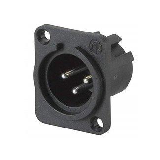 Neutrik Neutrik NC3MPP 3-Pin Male XLR Panel Mount Connector (Plastic)