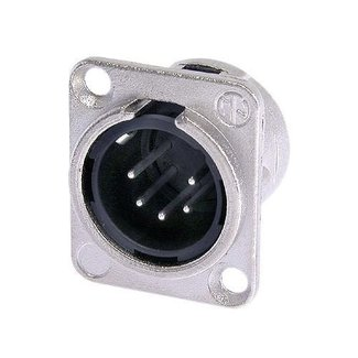 Neutrik Neutrik NC5MD-L-1 5-Pin D-Size Male XLR Panel Mount Connector