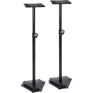 On Stage Stands On Stage Stands SMS6600P supports de moniteur studio à base hexagonale (Paire)