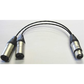 Pro Audio Pro Audio 3-Pin Female XLR to Dual 3-Pin Male XLR Splitter - 1'