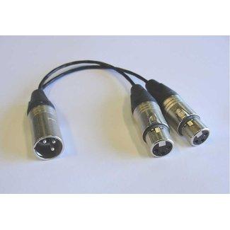 Pro Audio Pro Audio 3-Pin Male XLR to Dual 3-Pin Female XLR splitter - 1'