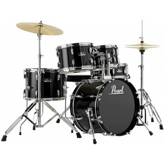 Pearl Pearl Roadshow RS505C Complete Drum Kit with Cymbals - Jet Black