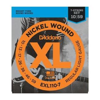 D'Addario D'Addario EXL110-7 ensemble de cordes pour guitare électrique 7 cordes - .010 / .059