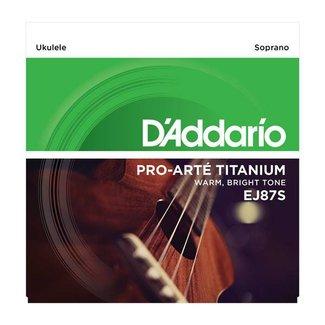 D'Addario D'Addario EJ87S Titanium ensemble de cordes pour Ukulélé Soprano