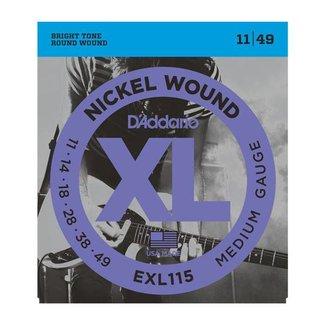 D'Addario D'Addario EXL115 Electric Guitar String Set 11-49