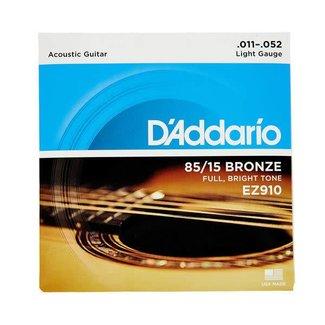 D'Addario D'Addario EZ910 ensemble de cordes pour guitare acoustique 11-52