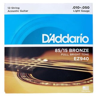D'Addario D'Addario EZ940 12-String Acoustic Guitar String Set 10-50