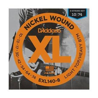 D'Addario D'Addario EXL140-8 ensemble de cordes pour guitare électrique 8 cordes 10-74
