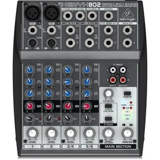 Behringer Behringer Xenyx 802 8-Channel Audio Mixer