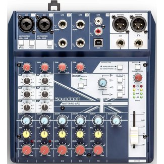 Soundcraft Soundcraft NOTEPAD-8FX 8-channel audio mixer with FX & USB interface
