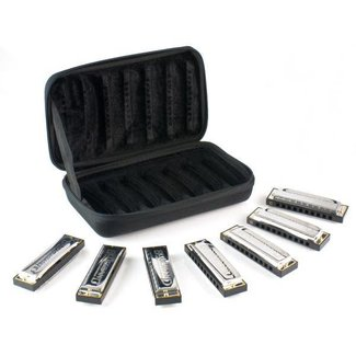 Hohner Hohner Blues Band ensemble de 7 harmonicas avec étui de transport