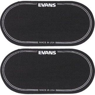 Evans Evans EQPB2 point de frappe adhésive double pour peau de grosse caisse - Paquet de 2