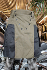 "The Spartan Utilikilt -TT-  34  (35"" - 39.5"") Olive (A)/Black (P) 24.5"" (6'4"" - 6'9"")"