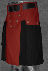 "The Spartan Utilikilt- TT, bright 36  (37"" - 42"") Red (A)/Black (P) 21.5"" (5'2"" - 5'9"")"