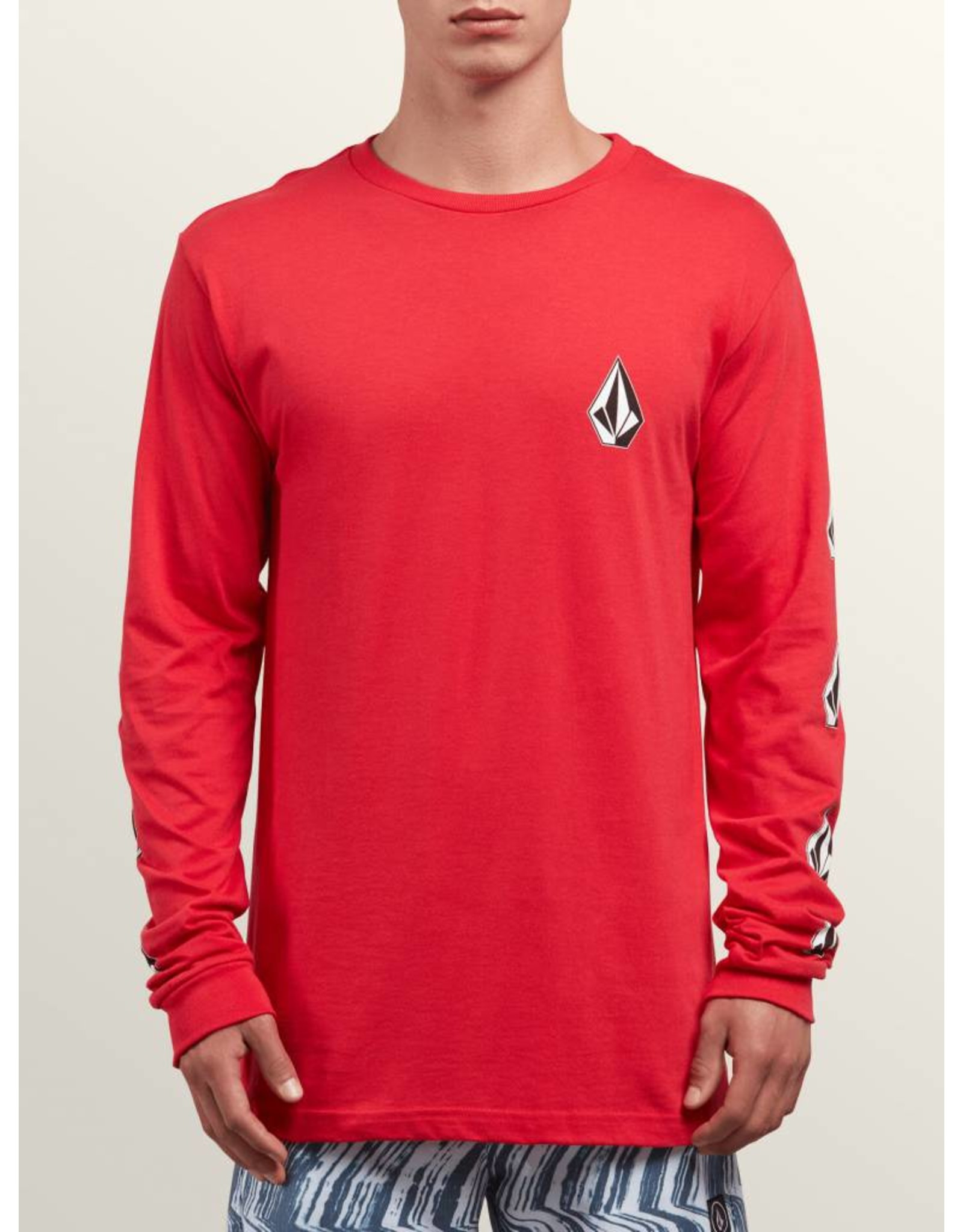 VOLCOM VOLCOM DEADLY STONES L/S SHIRT RED LARGE