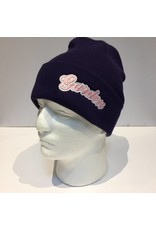 GARDEN GARDEN EMBOIDERED BUBBLE BEANIE PURPLE/PINK/WHITE