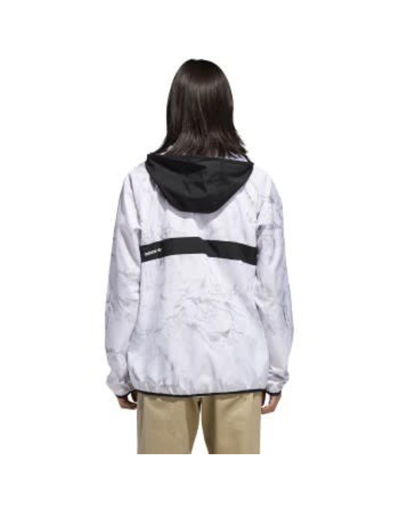 ADIDAS ADIDAS WHITE MARBLE BB PACKABLE WIND JACKET