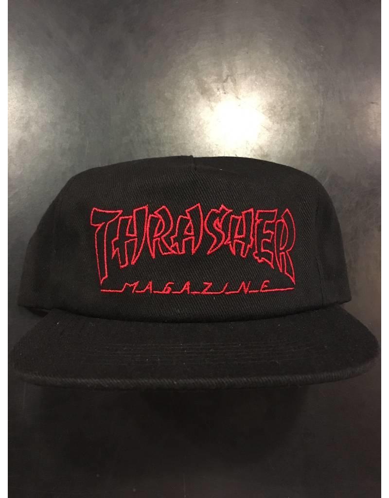 THRASHER THRASHER CHINA BANKS SNAPBACK CAP HAT BLACK