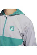 ADIDAS ADIDAS DEKUM PACKABLE JACKET GREY ACTION GREEN