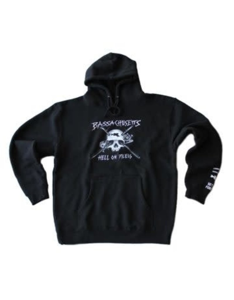BASSACHUSETTS BASSACHUSETTS HELL ON REELS PULLOVER HOODIE