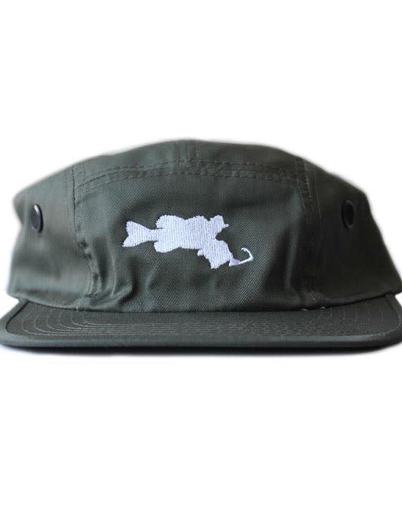BASSACHUSETTS BASSACHUSETTS 5 PANEL CAMPER CAP ADJ.