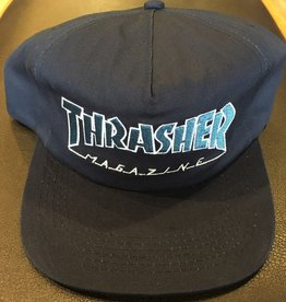 THRASHER THRASHER OUTLINED SNAPBACK HAT NAVY