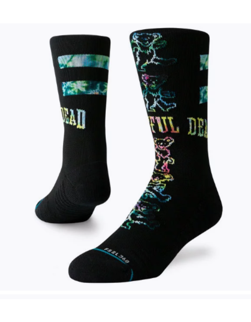 STANCE STANCE GRATEFUL DEAD GRATEFUL BEARS BLACK LARGE SOCK