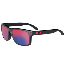 OAKLEY OAKLEY HOLBROOK MATTE BLACK RED IRIDIUM