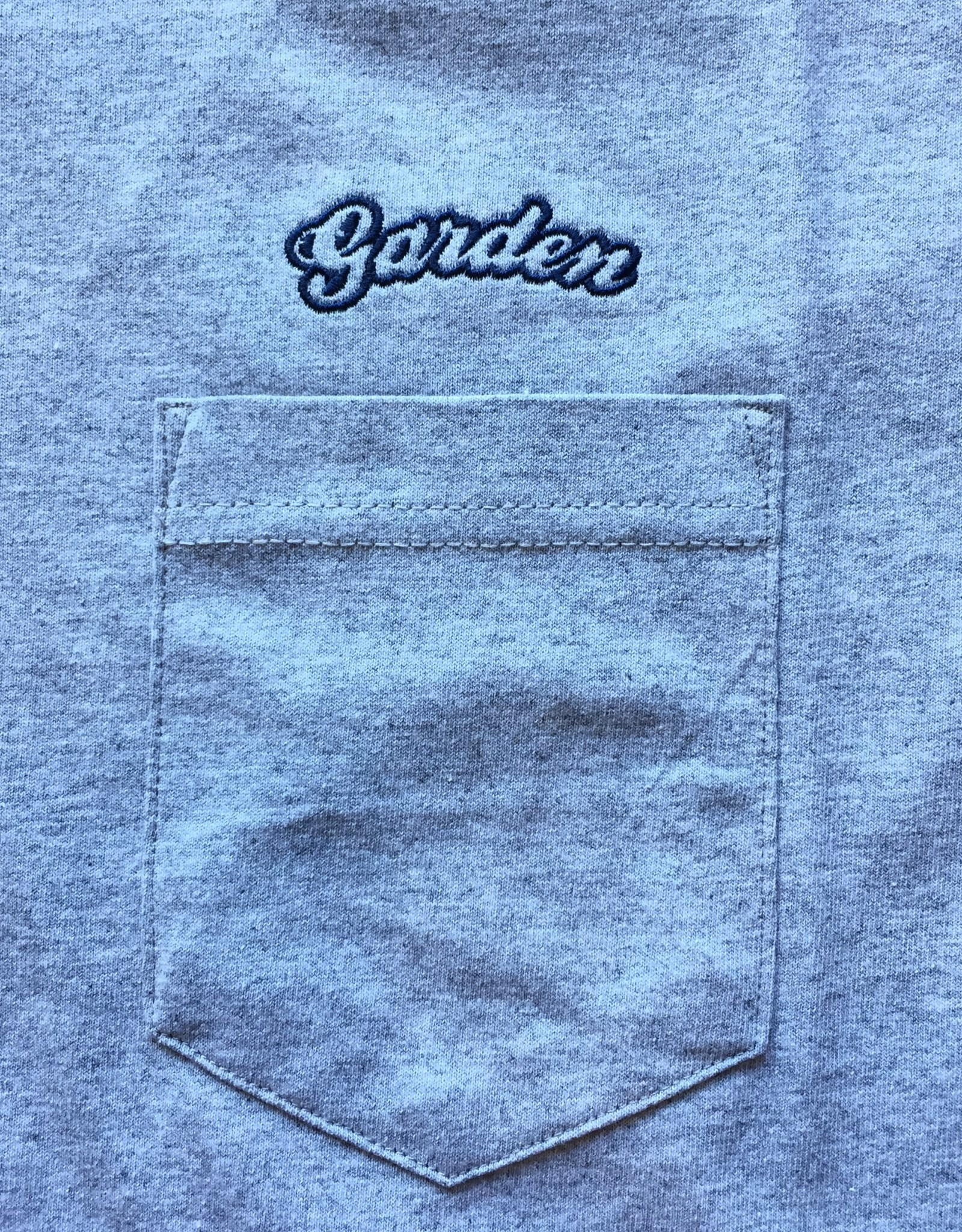 GARDEN EMBROIDERED GARDEN BUBBLE POCKET TEE