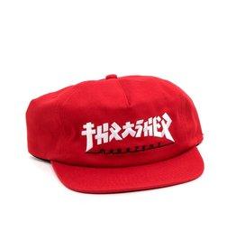 THRASHER THRASHER GODZILLA SNAPBACK HAT RED